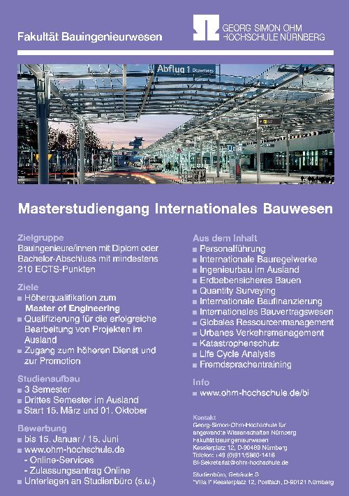 Masterstudiengang Internationales Bauwesen